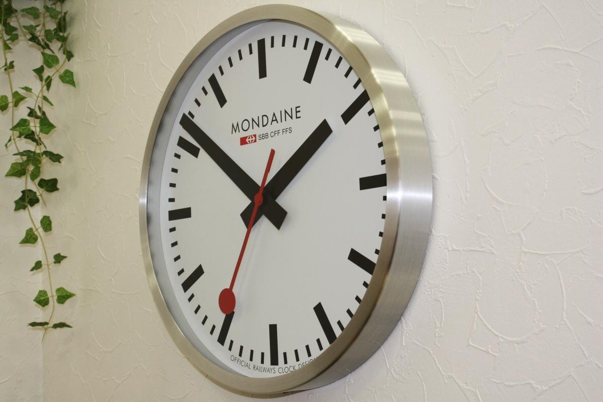 Katsuboya rakuten global market impact and transparent large impact and transparent large diameter 40 cm if switzerland railway clocks wall clocks mondaine applied amipublicfo Images