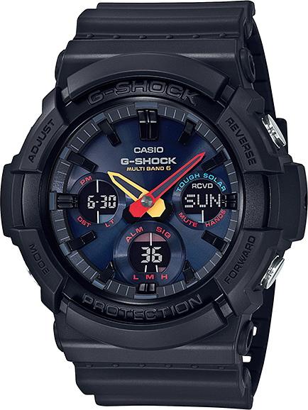 薄型!CASIO【カシオ】G-SHOCK【Gショック】Black×Neon腕時計ソーラー電波時計/国内正規流通商品NEO TOKYO CITY