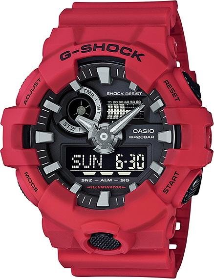 レッド!CASIO【カシオ】G-SHOCK【Gショック】アナログ&デジタル腕時計/国内正規流通商品