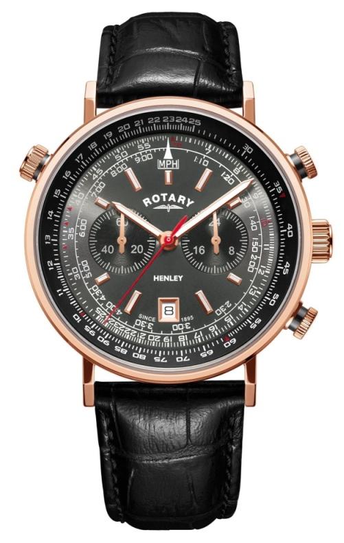 1960年代デザインのROTARY【ロータリー】Henley【ヘンリー】クォーツ・クロノグラフ腕時計/正規代理店商品/男女兼用腕時計イギリス/メンズ