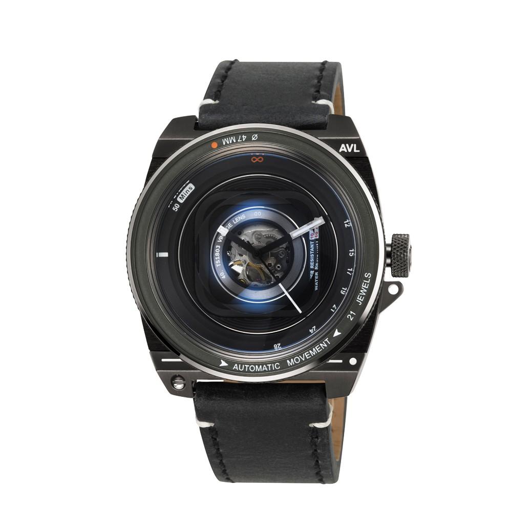 カメラのレンズをイメージしたTACS【タックス】VINTAGE LENS AUTOMATIC2自動巻きDARK METAL EDITIONヴィンテージ・レンズのデザインウォッチ!/正規代理店商品