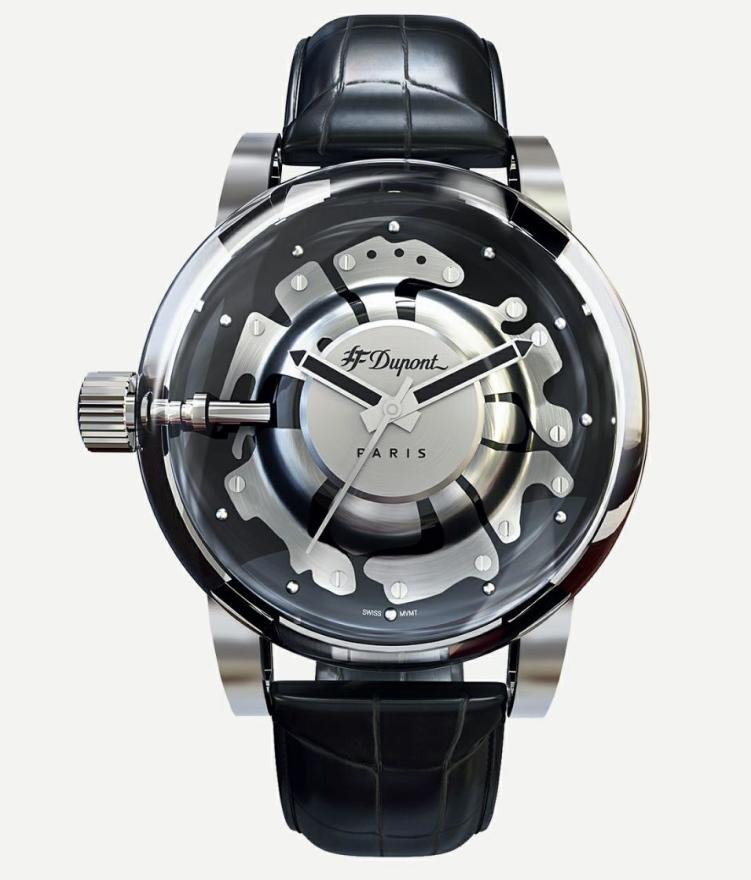 フランスのDupont【エス・テー・デュポン】HYPERDOME【ハイパードーム】ドーム型ミネラルクリスタル採用クォーツ腕時計/メーカー希望小売価格82,500円/送料無料