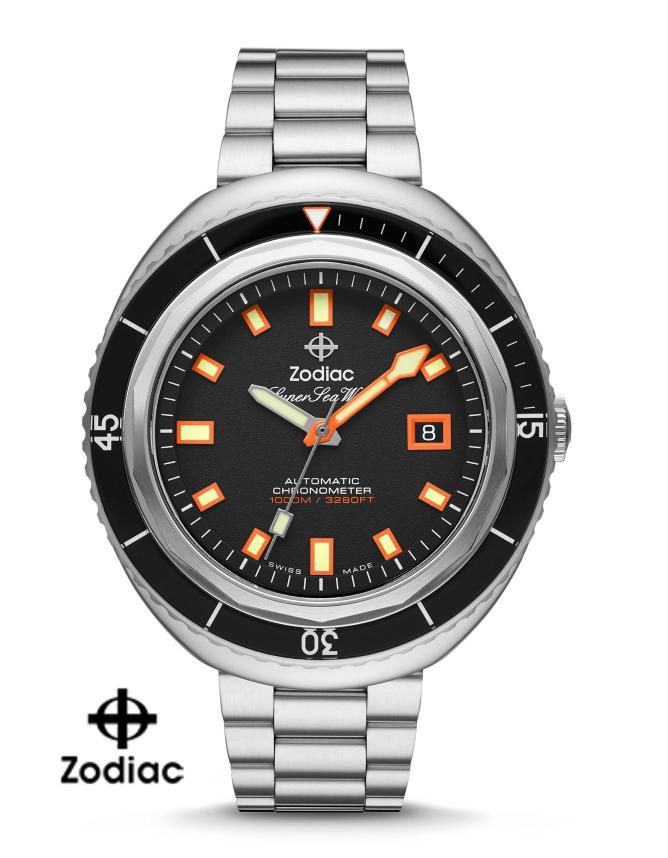 スイス製ZODIAC【ゾディアック】Super Sea Wolf68Saturation【シーウルフ】クロノメーター自動巻き腕時計1000m防水/送料無料/