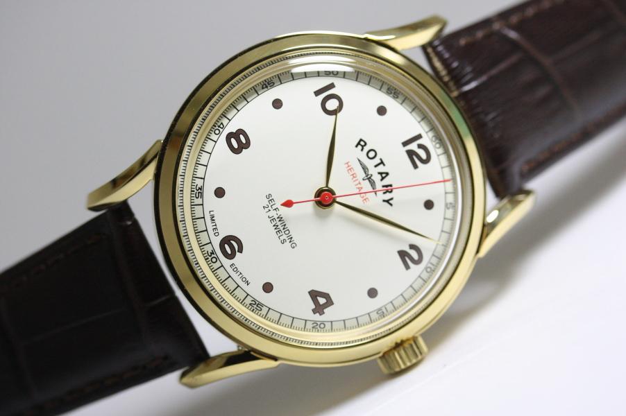 世界限定300本(日本入荷20本)ROTARY【ロータリー】Heritage【ヘリテージ】1940年代の復刻!自動巻き腕時計/正規代理店商品/送料無料
