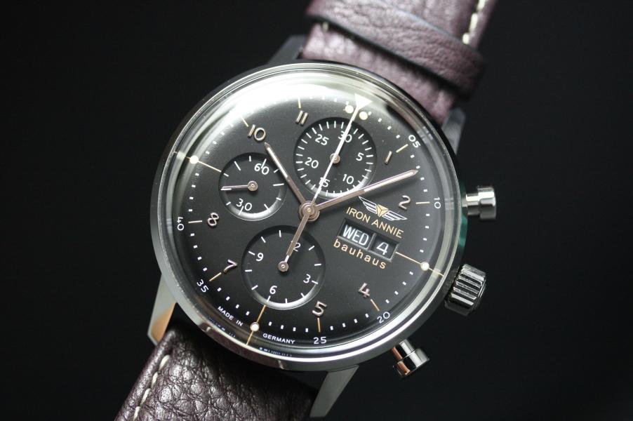 ドイツ製IRON ANNIE【アイアン・アニー】Bauhausバウハウス・デザインの自動巻きクロノグラフ腕時計//メンズウォッチ/正規代理店商品/Junkersユンカース