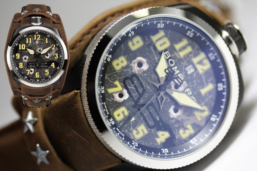 スイス製BOMBERG【ボンバーグ】BOLT-68パイロット・ミリタリービンテージ・クォーツ腕時計/国内正規流通商品
