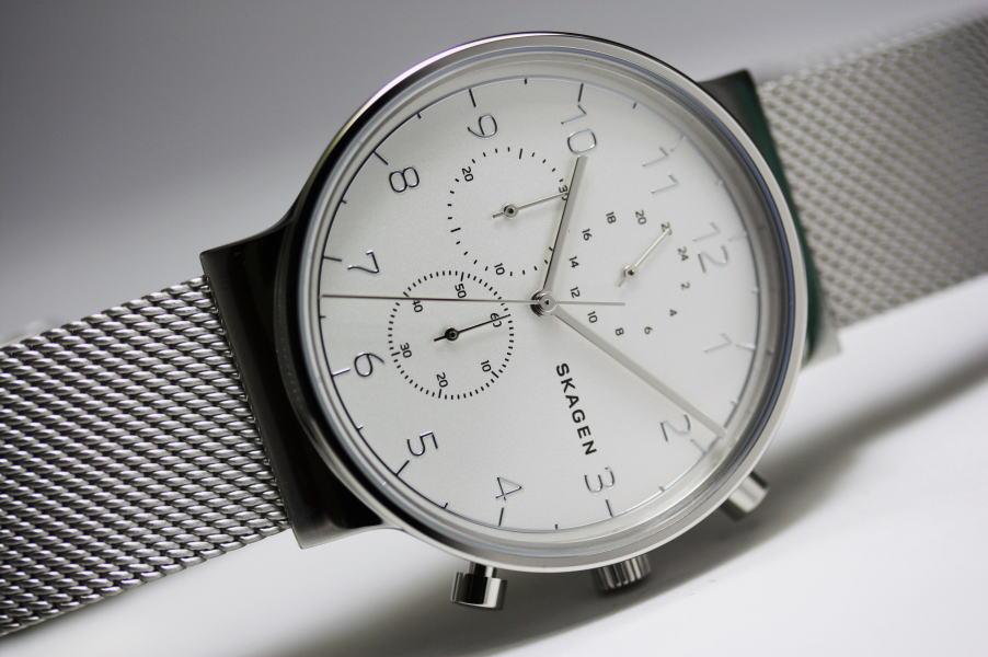北欧デンマーク・デザインのSKAGEN【スカーゲン】ANCHER【アンカー】クロノグラフ・デザインウォッチ/メンズ腕時計/正規代理店商品