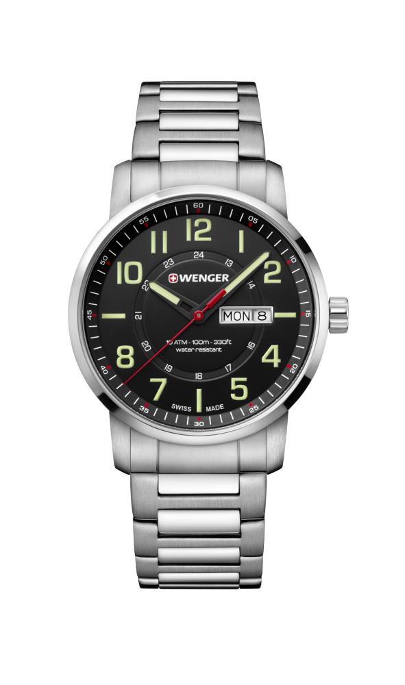 定番デザイン!スイス製WENGER【ウェンガー】Attitude【アティチュード】クォーツ・デイデイト腕時計/正規代理店商品