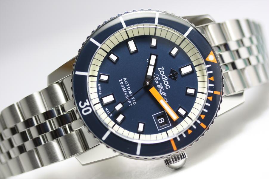完成度の高い復刻モデル!スイス製ZODIAC【ゾディアック】Super Sea Wolf53【シーウルフ】自動巻き腕時計/正規代理店商品