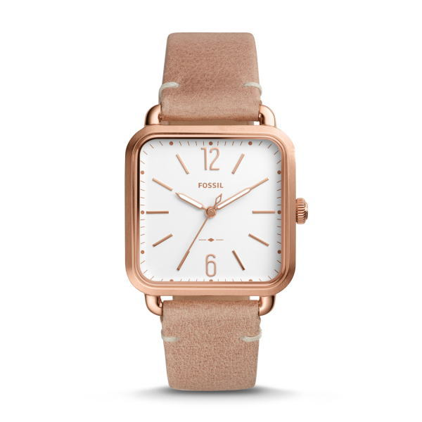 スクエアケースのFOSSIL【フォッシル】レディース・デザインウォッチ/女性用腕時計/正規代理店商品ボーイズサイズ