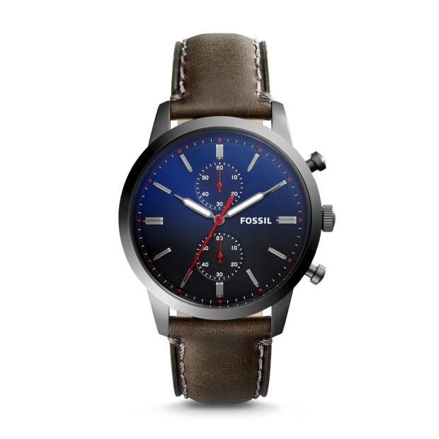 シンプルなクロノグラフ!FOSSIL【フォッシル】TOWNSMANクロノグラフ・デザインウォッチ/正規代理店商品/送料無料/クリスマス/腕時計