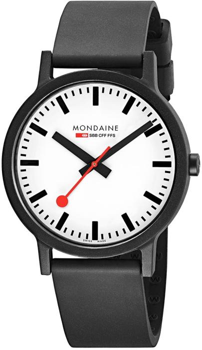 流通限定のエコなスイス鉄道公式時計MONDAINE【モンディーン】essence 【エッセンス】シンプルな3針モデル/鉄道時計/正規代理店商品/メンズ