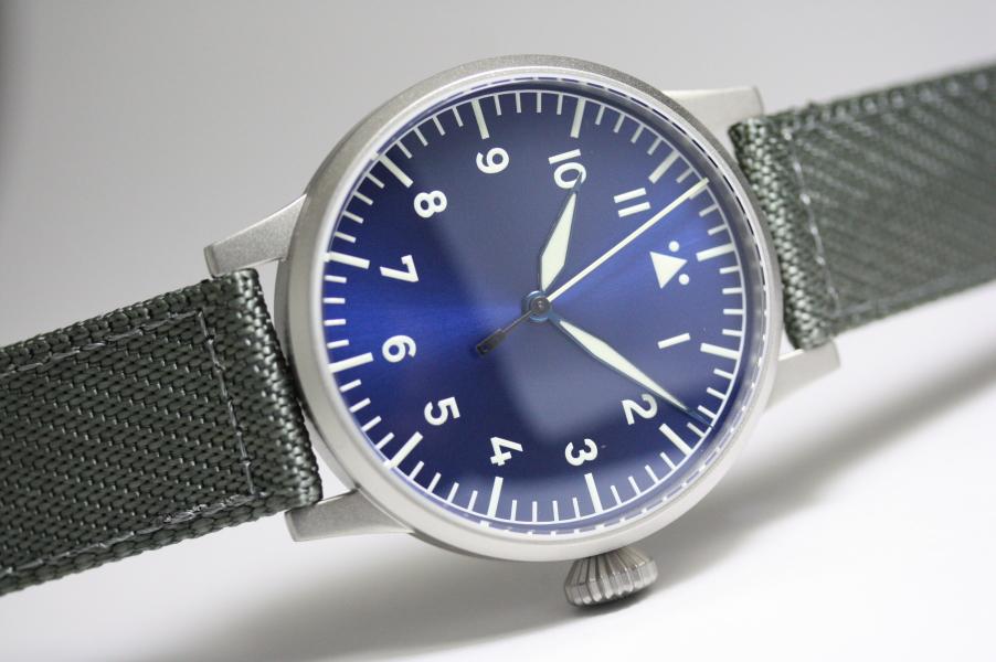 ドイツ空軍採用Laco【ラコ】Munster Blaue Stunde 【ミュンスター・ブラウシュトゥンデ】自動巻き腕時計ミリタリーウォッチ/正規代理店商品