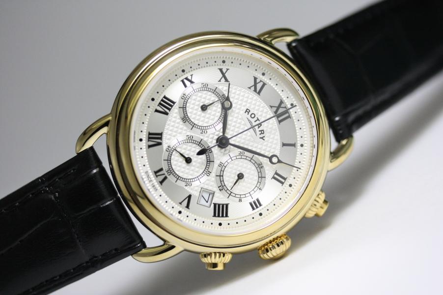 ROTARY【ロータリー】Canterbury【カンタベリー】クラシック・クロノグラフ・クォーツ腕時計/正規代理店商品/男女兼用腕時計