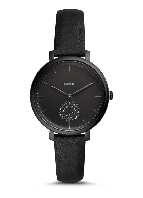 ブラック・クリスタルを埋め込んだFOSSIL【フォッシル】ジャクリーン・レディース・デザインウォッチ/女性用腕時計/正規代理店商品