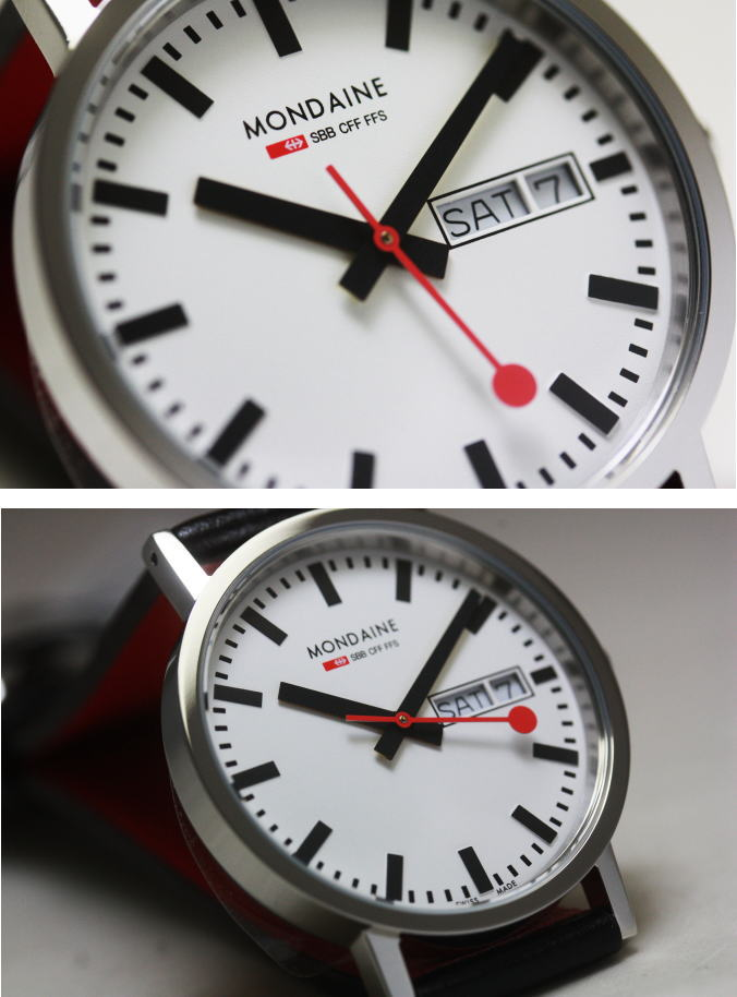 Model revived the case Switzerland railway official clock MONDAINE early  type of Forum! And train clock / regular agency products