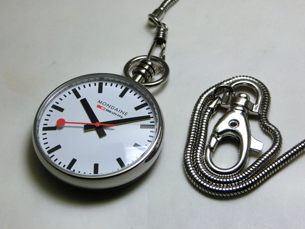 Switzerland railway official clock MONDAINE Pocket Watch and Pocket Watch