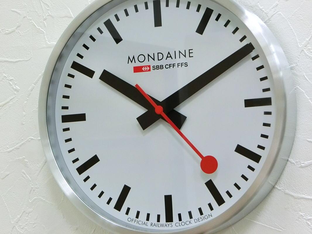 スイス鉄道公式クロックのMONDAINEモンディーン ウォール・クロック掛時計