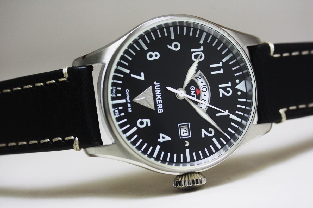 ドイツJunkers【ユンカース】コックピットJu52シリーズ!GMT搭載モデル!腕時計/ミリタリーウォッチ