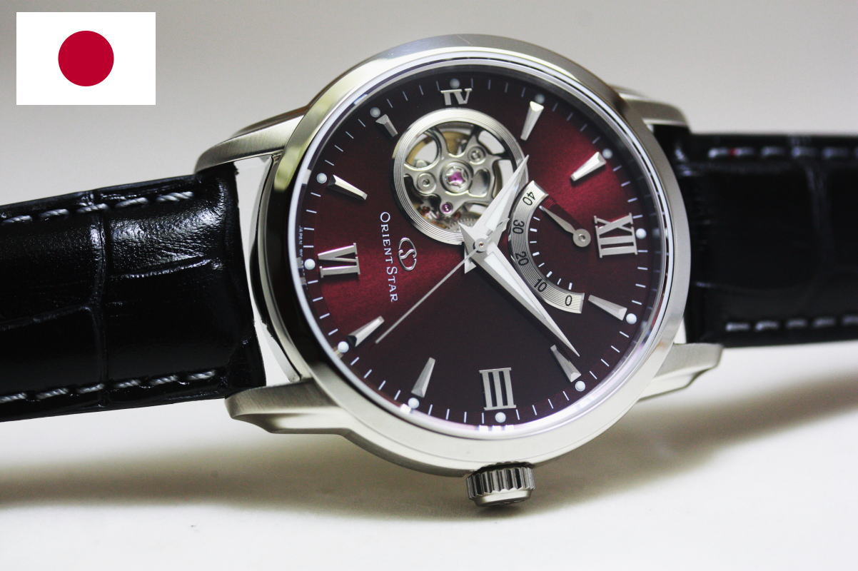 55eb15a03c9 Limited distribution made in Japan ORIENT Orient star-semi skeleton  automatic wristwatch   power reserve with open heart