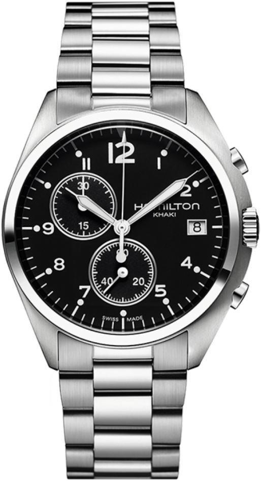 Hamiltonハミルトン Khaki カーキ・パイロット・パイオニア・クロノグラフ腕時計 ミリタリーウォッチH76512133