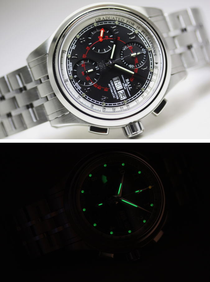 42e35f8a2a0 BALL WATCH pulse meter COSC chronometer self-winding wristwatch tritium and  micro-gas lights