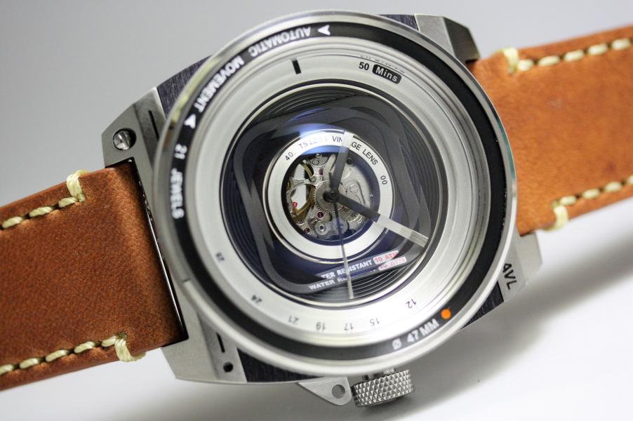 カメラのレンズをイメージしたTACS【タックス】VINTAGE LENS AUTOMATIC2自動巻きヴィンテージ・レンズのデザインウォッチ!/正規代理店商品