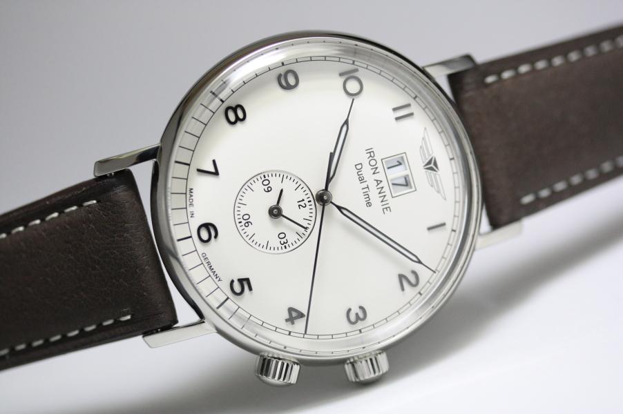 ドイツ製IRON ANNIE【アイアン・アニー】Amazonas デュアルタイム&ビックデイト・クォーツ腕時計/メンズウォッチ/正規代理店商品/Junkersユンカース