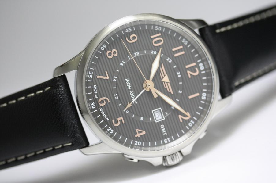 ドイツ製IRON ANNIE【アイアン・アニー】WELLBLECH2ヶ国時刻表示のGMT搭載腕時計/メンズウォッチ/正規代理店商品/Junkersユンカース