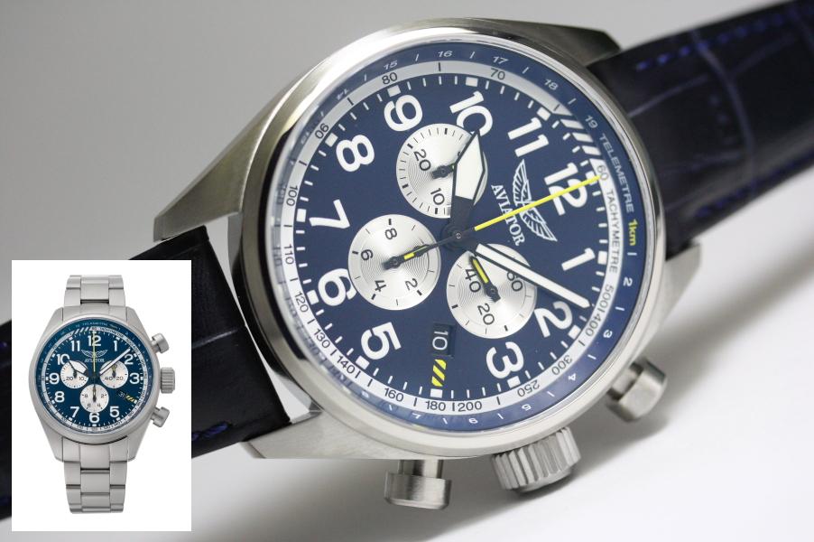 ロシアのAVIATOR【アビエーター】AIRACOBRA P45 Chronograph【エアコブラ】クォーツ・クロノグラフ/アビアートル腕時計