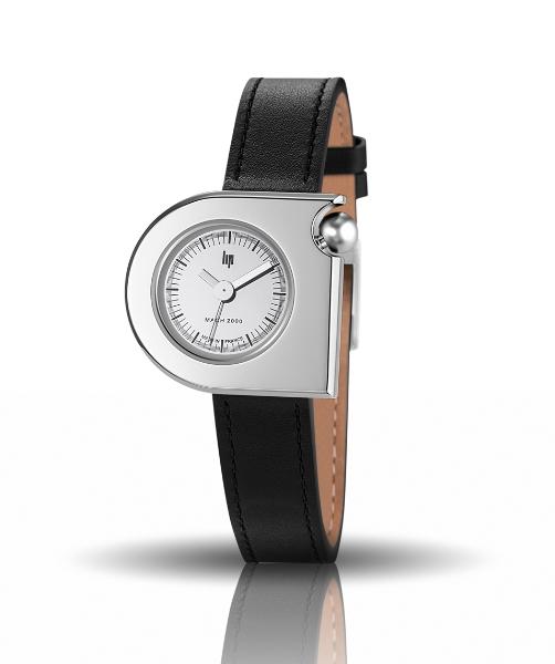 【レディース】フランス製LIP【リップ】MACHマッハ2000シルバーカラーデザインウォッチ/女性用腕時計