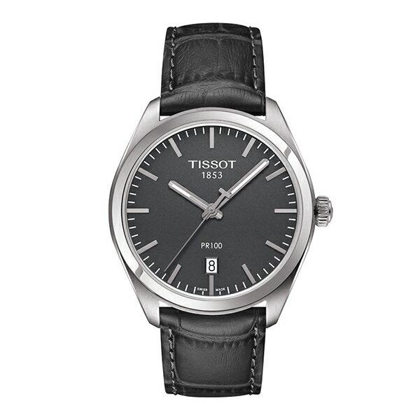 スイス製Tissot【ティソ】シンプルでお手頃価格なPR100クォーツ腕時計T101.410.16.441.00/メンズウォッチ/正規代理店商品