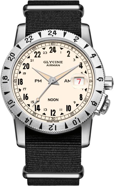 498a6f3e50 楽天市場】限定1000本の24時間表示!スイス製GLYCINE【グリシン】Airman ...