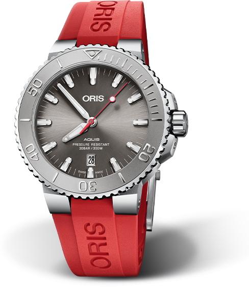 スイス製ORIS【オリス】AQUIS【アクイスデイト・レリーフ】300m防水自動巻き腕時計/ダイバーズウォッチ/正規代理店商品/送料無料/クリスマス/腕時計