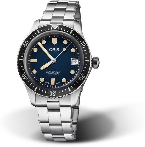 復刻!スイス製ORIS【オリス】ダイバーズ65デイト自動巻き腕時計/ヴィンテージ・ダイバーズ・デザイン/ブロンズ/正規代理店商品/直径36ミリ/ブルー/送料無料