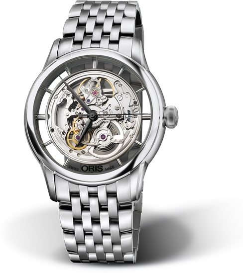 スイス製ORIS【オリス】Artelier【アートリエ】トランスルーセント・スケルトン自動巻き腕時計/メンズウォッチ/正規代理店商品