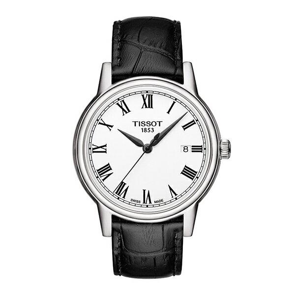 時計らしさあるデザイン!スイス製Tissot【ティソ】CARSONクラシック・クォーツ・ウォッチ/腕時計