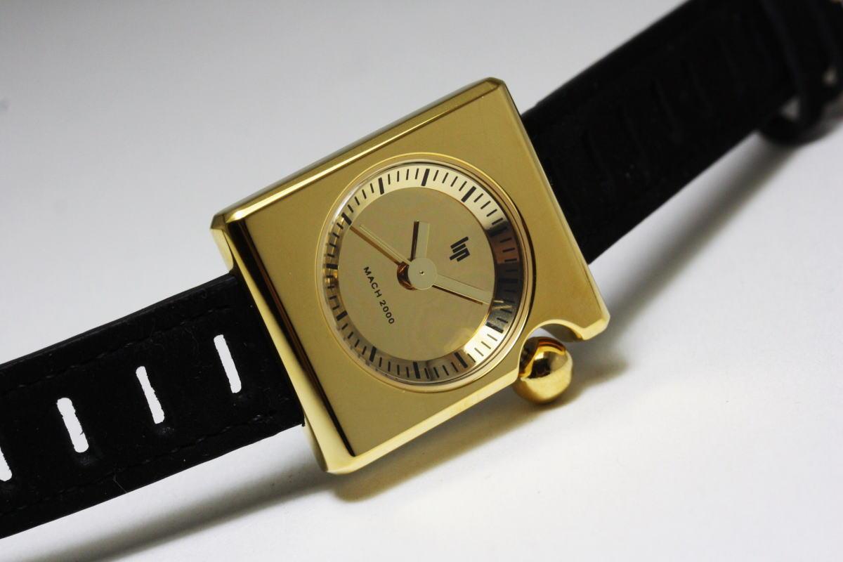 【レディース】外箱なしSALE!フランスのLIP【リップ】MACHマッハ2000ゴールド・スクエア/デザイン・ウォッチ腕時計