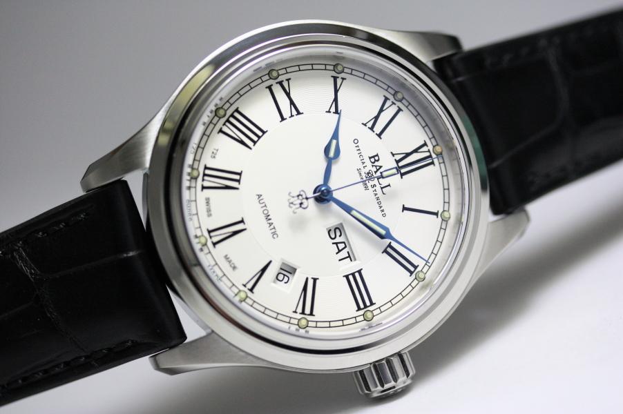 BALL WATCH【ボール・ウォッチ】トレインマスターRomanローマン自動巻き腕時計NM1058D-L4J-WH