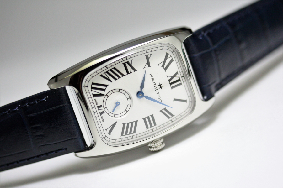 アメリカン・クラシック・デザイン!HAMILTON【ハミルトン】Boulton【ボルトン】復刻モデル/クォーツ腕時計/正規代理店商品/ボーイズサイズ