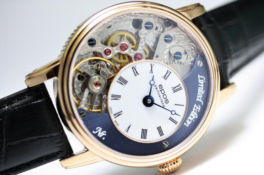 世界限定888本のみ!スイス製EPOS【エポス】OEUVRE D'ART 3435Verso 2スケルトン手巻き腕時計/正規代理店商品