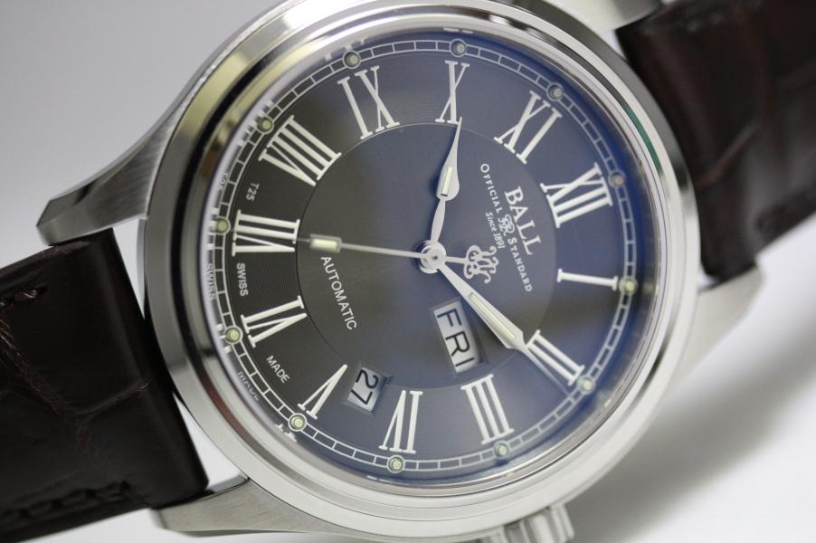 BALL WATCH【ボール・ウォッチ】トレインマスターRomanローマン自動巻き腕時計NM1058D-L4J-GYグレーダイアル