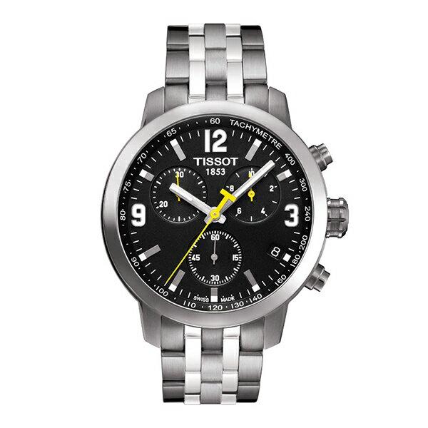 イエロー針が人気!スイス製Tissot【ティソ】PRC200クォーツ・クロノグラフ腕時計/メンズウォッチ/正規代理店商品