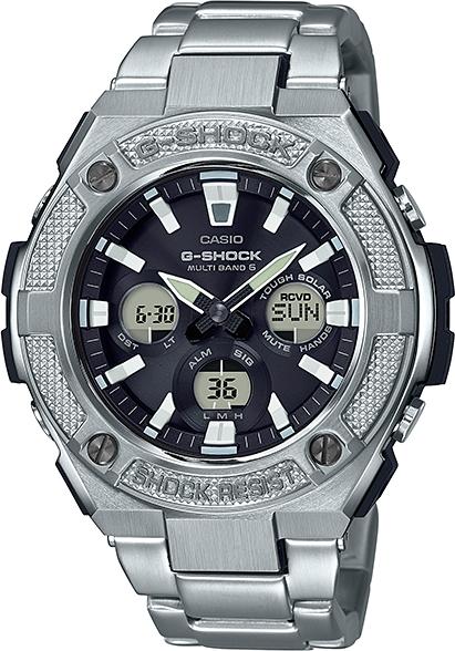 ミドルサイズ!カシオG-SHOCK【ジーショック】G-STEEL(Gスチール)GST-W330D-1AJFソーラー電波時計