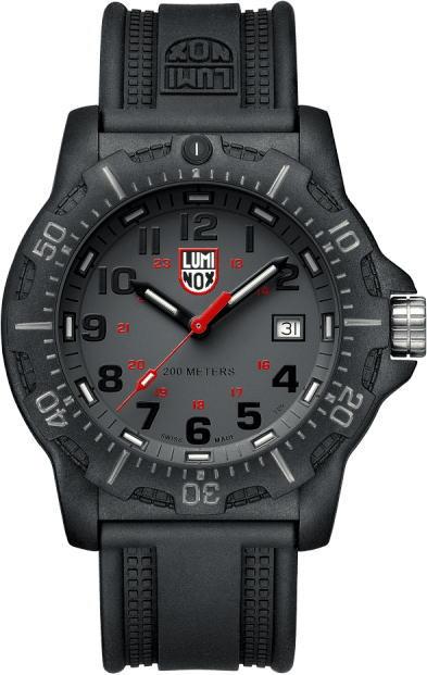 サファイアガラス採用そして赤針!スイス製LUMINOX【ルミノックス】Black Ops 8880ダイブウォッチ200m防水腕時計/正規代理店商品