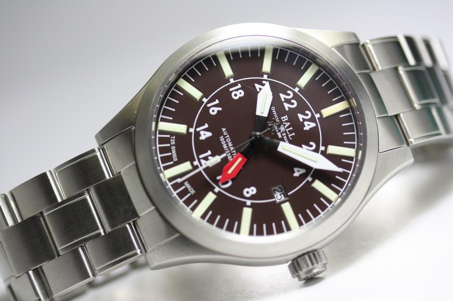 日本未入荷のブラウン!スイス製BALL WATCH【ボール・ウォッチ】エンジニアマスター2 アビエーター GMT自動巻き腕時計GM1086C-SJ-BR