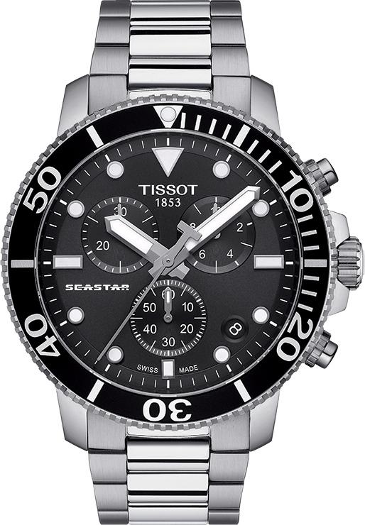 スイス製Tissot【ティソ】Seastar 1000【シースター】クォーツ・クロノグラフ腕時計/300m防水/正規代理店商品/送料無料