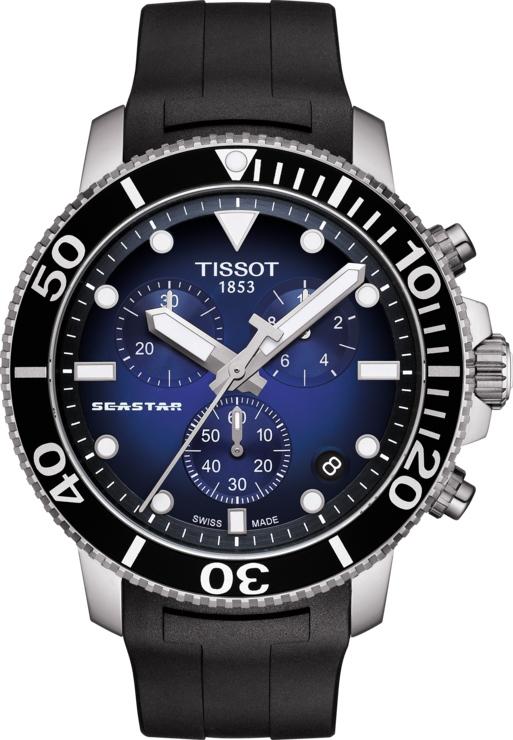 スイス製Tissot【ティソ】Seastar 1000【シースター】クォーツ・クロノグラフ腕時計/300m防水/正規代理店商品/