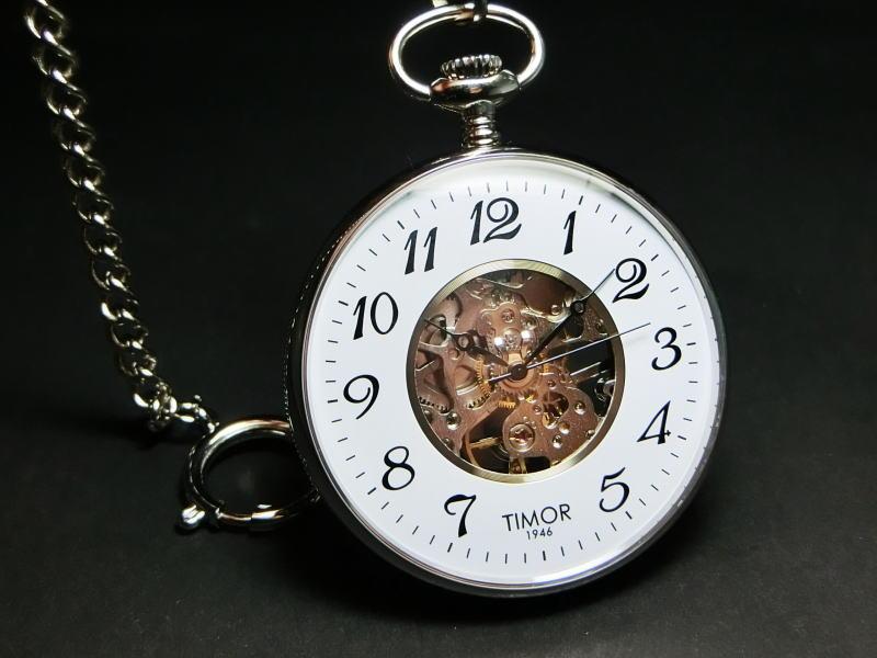 TIMOR【ティモール】スケルトン手巻きポケットウォッチ/懐中時計/正規代理店商品