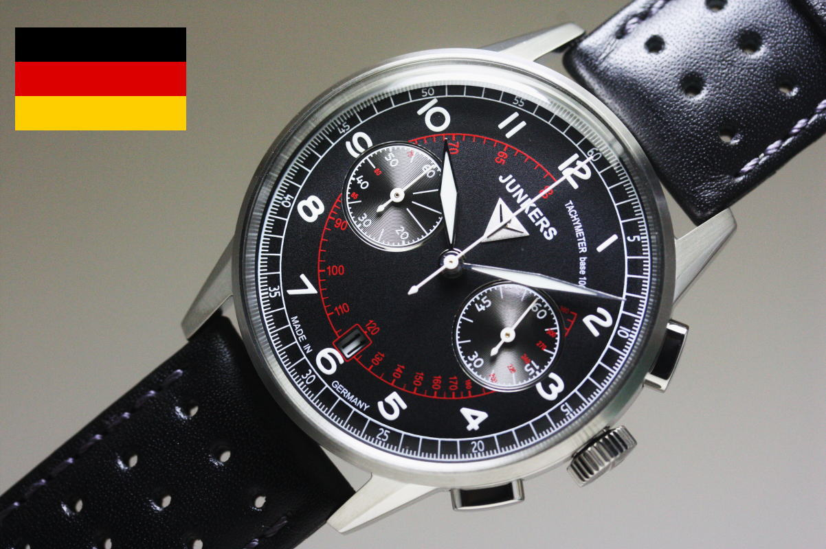 katsuboya vintage style made in germany junkersg38 quartz and chronograph watches pilot